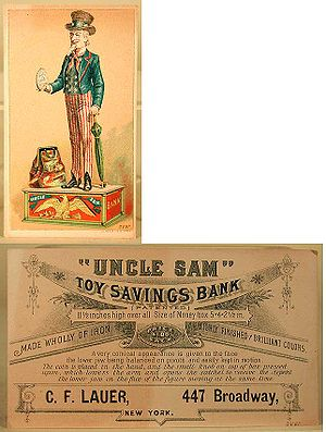 """Uncle Sam"" toy savings bank"