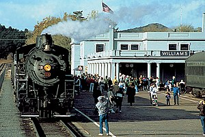 Grand Canyon Railway trains at Williams Depot