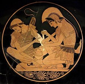 Chiến tranh thành Troy là khởi nguồn của nhiều chuyện trong thần thoại Hy Lạp. Dương v��t của Patroclus thể hiện phương diện tình dục của quan hệ đồng giới. Những kiểu quan hệ như v��y là yếu tố phổ biến trong thần thoại Hy Lạp, trong đó phải kể đến quan hệ của Zeus và Ganymede