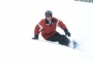 Alpine snowboarder