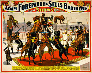 romotional poster for Forepaugh & Sells Brothe...