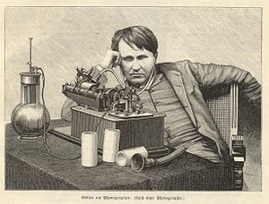 Thomas Edison, American inventor and businessm...