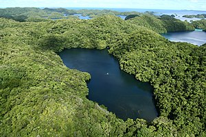 on Eil Malk Island, Palau. Looking west-northw...