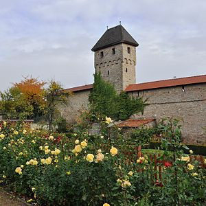 Kirchheimbolanden, town wall with Grey Tower