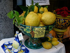 Lemons were as big as footballs. And twice we ...