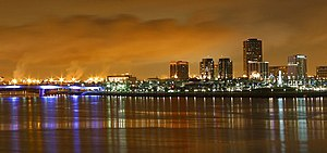 Long Beach, California at night