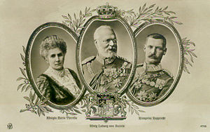 Family of Ludwig III of Bavaria. King Ludwig I...