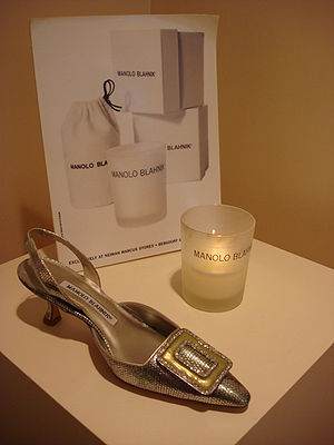 Manolo Blahnik shoe (31 W 54th St - New York)