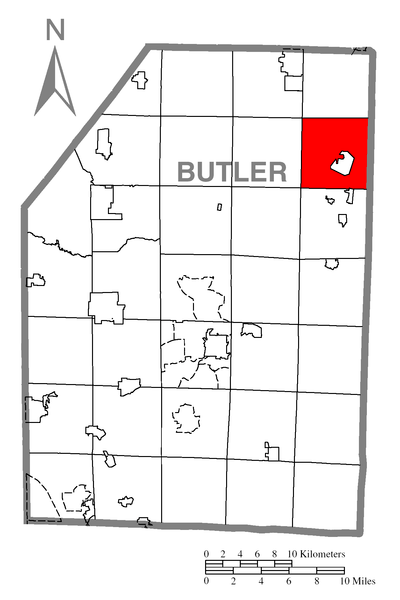 File:Map of Parker Township, Butler County, Pennsylvania
