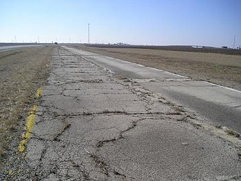 An abandoned early Route 66 alignment in south...