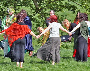 A handfasting ceremony at Avebury in England, ...