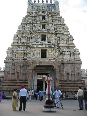 The Gopuram or gateway to the temple.