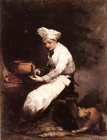 Augustin Théodule Ribot: The cook and the cat
