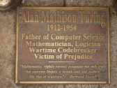 The Turing memorial plaque in Sackville Park