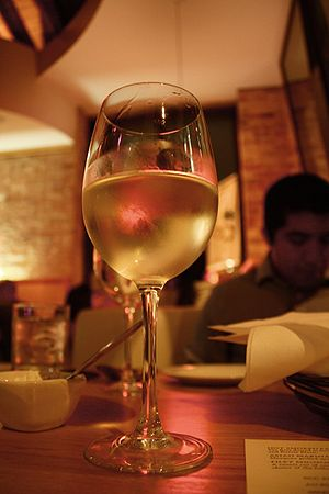 A glass of sauvignon blanc wine from unknown o...