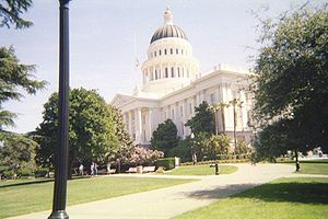 a side view of the Capital of California