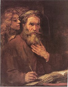 Saint Matthew and the Angel by Rembrandt