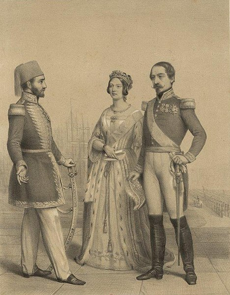The Allies: Sultan Abdulmecid I of the Ottoman Empire, Queen Victoria, and President of France Louis-Napoléon Bonaparte.