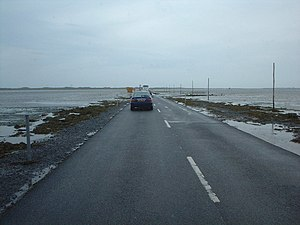 English: The road is clear First traffic acros...