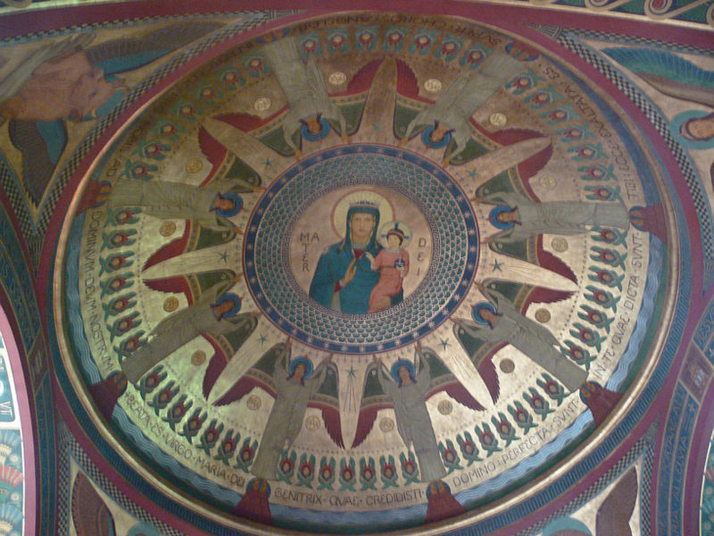 File:Beuron Gnadenkapelle Kuppel Glorifizierung Mariä.jpg