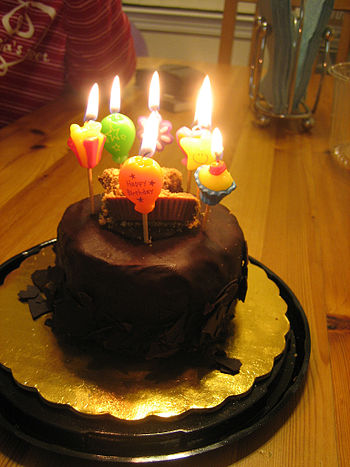 A birthday cake