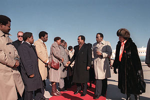 Cameroon President Paul Biya and his wife are ...