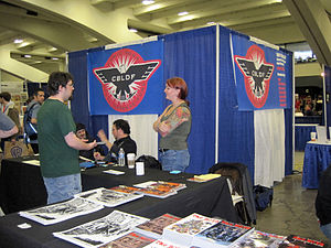 The Comic Book Legal Defense Fund booth at Won...