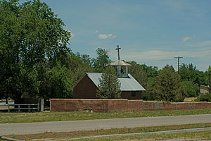 Church in Estancia, New Mexico