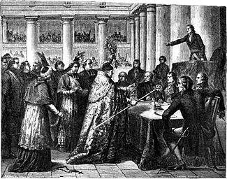 Avant cette loi du temps du concordat de 1801, les évêques français prêtaient serment civil exigé par le Concordat.
