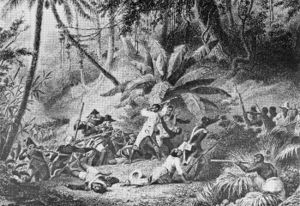 "Battle at ""Snake Gully"" during the H..."