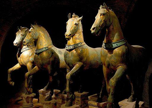 Horses of Basilica San Marco bright
