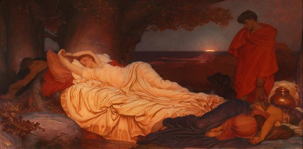 """Cymon and Iphigenia"" by Frederic Leighton"