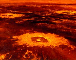 Impact craters on the surface of Venus (image ...
