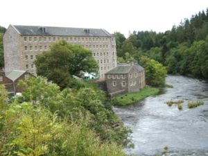 English: New Lanark World Heritage village in ...