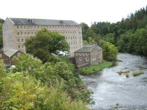 English: New Lanark World Heritage village in ...