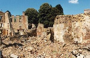 Français : oradour sur glane - ruines