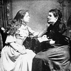 Helen Keller and her teacher