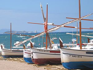 Fishing boats at Sa Riera