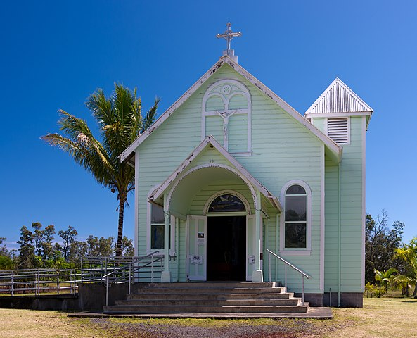 FileStar of the Sea Painted Church Big Island exterior