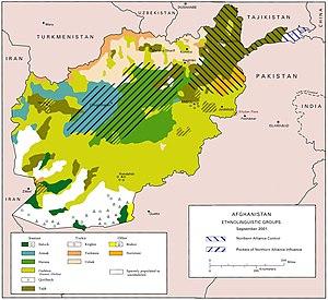 English: US Army map of Afghanistan -- circa 2...