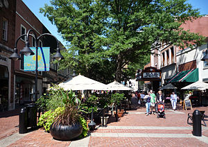 English: The Downtown Mall in Charlottesville,...
