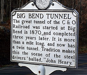 This sign explains about the tunnel that is fa...