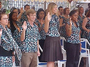 Cameroon volunteers swearing in, 2006