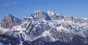 The Tofane massif in the Dolomites, in Cortina...
