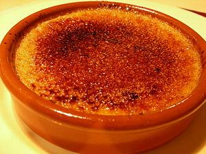 Español: Crema quemada servida en Lyon (Franci...