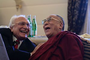 Tenzin Gyatso, 14th Dalai Lama with Marco Pannella