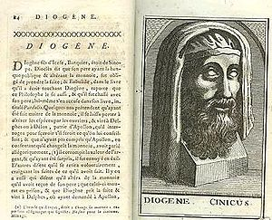English: Diogenes the Cynic, from Diogenes Lae...