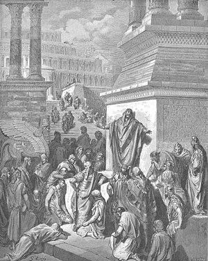 Jonah preaching to the Ninevites, by Gustave Doré.