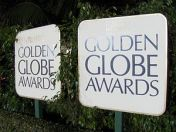 Signs for the Golden Globe Awards.
