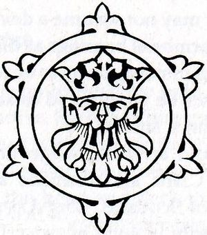 Badge of The Heraldry Society drawn by me base...
